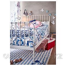 МИННЕН Раздвижная кровать с реечным дном, белый, 80x200 см, фото 3