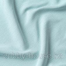 ВИЛБОРГ Затемняющие гардины, 1 пара, белый/бирюзовый, 145x300 см, фото 2