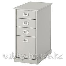 КЛИМПЕН Тумба с ящиками, светло-серый серый, 33x70 см, фото 2