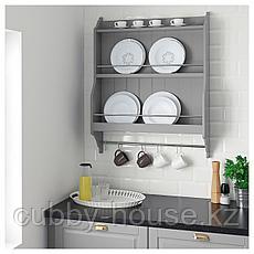 ТОРНВИКЕН Полка для тарелок, серый, 80x100 см, фото 2