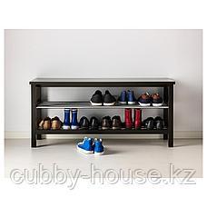 ЧУСИГ Скамья с полкой для обуви, черный, 108x50 см, фото 2