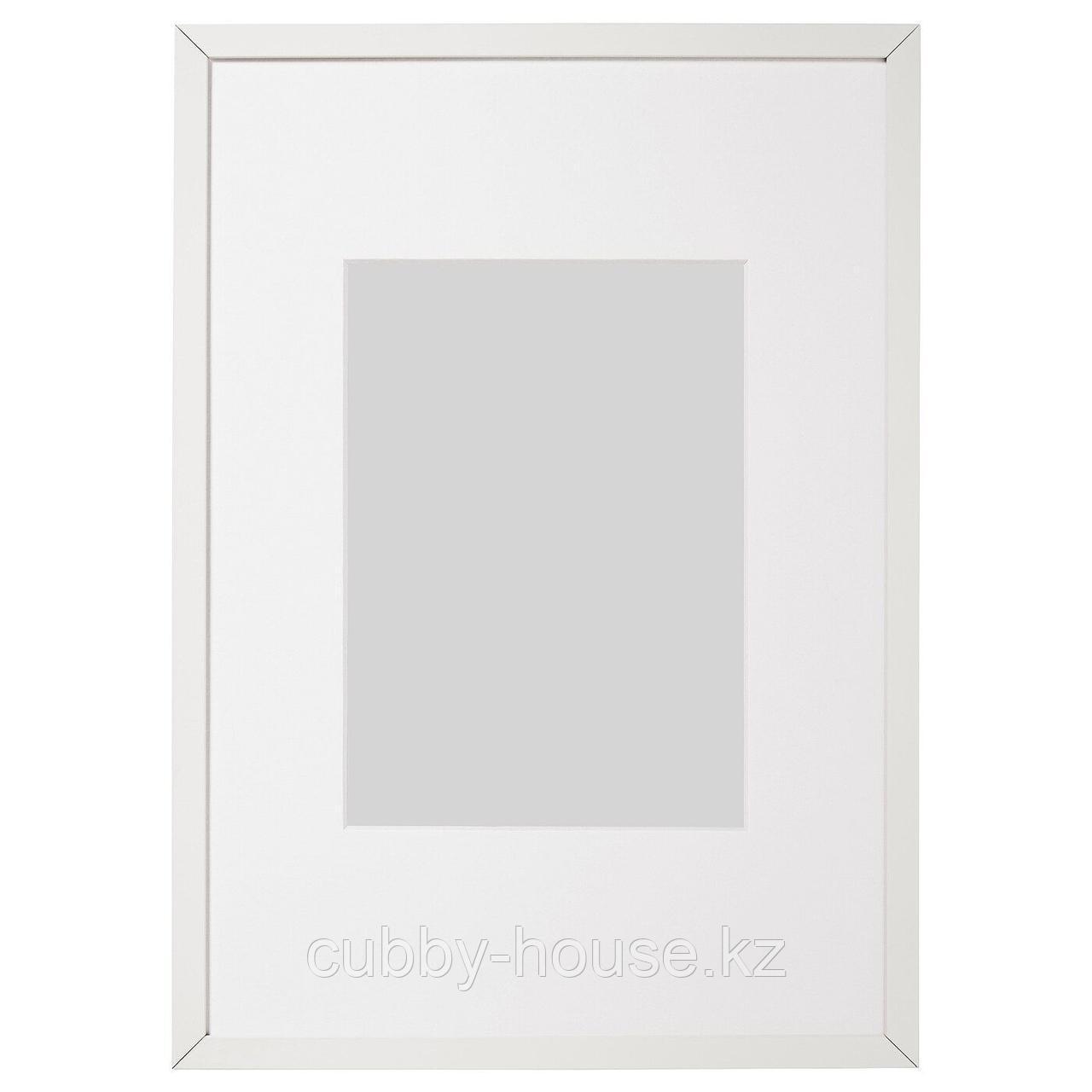 ЛОМВИКЕН Рама, белый, 40x50 см