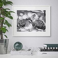 ЛОМВИКЕН Рама, белый, 40x50 см, фото 3