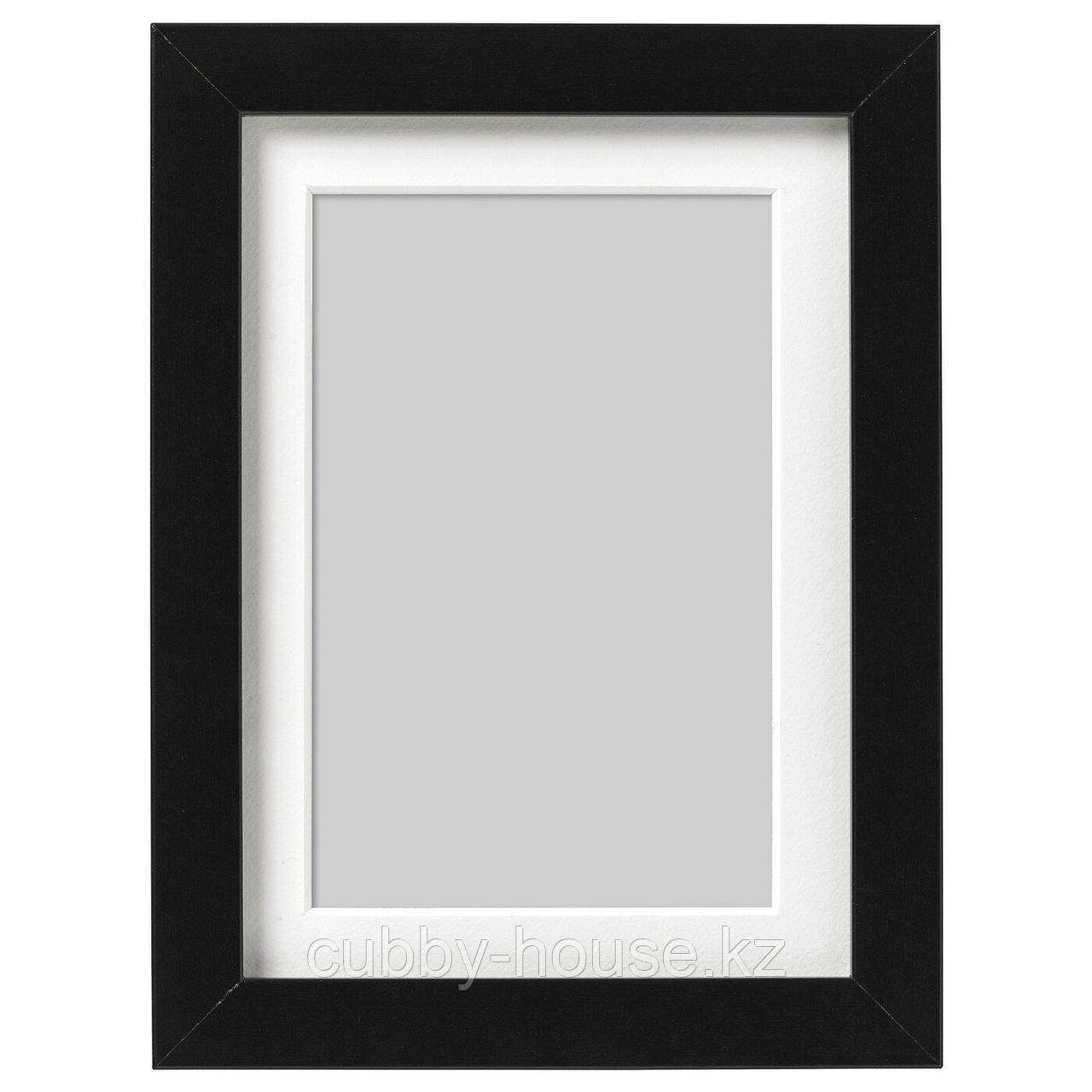 РИББА Рама, черный, 50x70 см