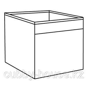 ФЮССЕ Коробка, темно-серый, 30x30x30 см, фото 2