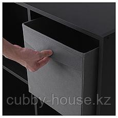 ФЮССЕ Коробка, темно-серый, 30x30x30 см, фото 3