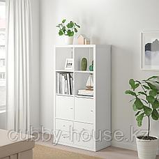 КАЛЛАКС Стеллаж с 4 вставками, белый, 77x147 см, фото 2
