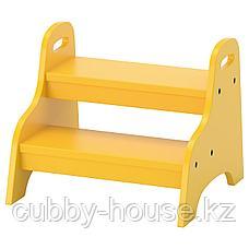 ТРУГЕН Детский табурет-лестница, желтый, 40x38x33 см, фото 2