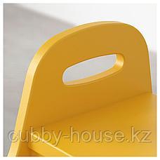 ТРУГЕН Детский табурет-лестница, желтый, 40x38x33 см, фото 3