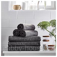 ВОГШЁН Простыня банная, темно-серый, 100x150 см, фото 3