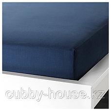 УЛЛЬВИДЕ Простыня натяжная, темно-синий, 140x200 см, фото 2