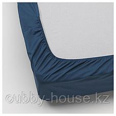 УЛЛЬВИДЕ Простыня натяжная, темно-синий, 140x200 см, фото 3