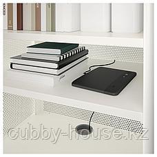 БЕКАНТ Модуль для хранения, на ножках, сетка черный, 61x101 см, фото 3