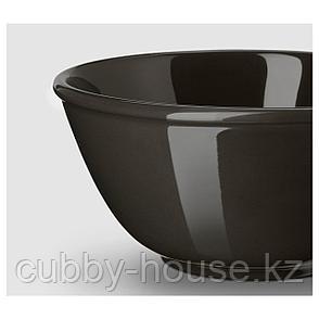 ВАРДАГЕН Миска, темно-серый, 15 см, фото 2