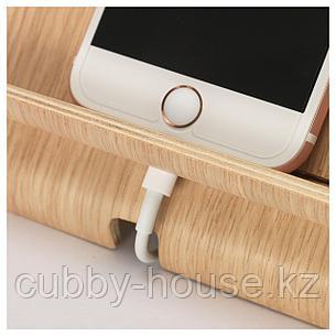 СИГФИН Подставка д/мобильного телефона, бамбуковый шпон, фото 2