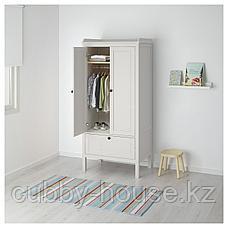 СУНДВИК Шкаф платяной, белый, 80x50x171 см, фото 3