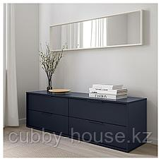 НОРДМЕЛА Комод с 4 ящиками, черно-синий, 159x50 см, фото 3