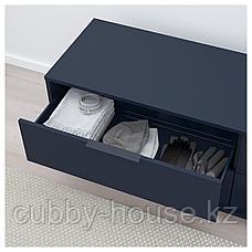 НОРДМЕЛА Комод с 4 ящиками, черно-синий, 159x50 см, фото 2