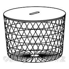 КВИСТБРУ Столик с отделениями д/хранения, белый, 61 см, фото 2