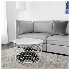 КВИСТБРУ Столик с отделениями д/хранения, белый, 61 см, фото 3