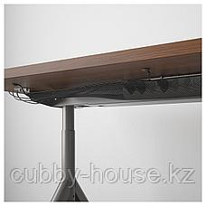 ИДОСЕН Письменный стол, коричневый, темно-серый, 160x80 см, фото 3