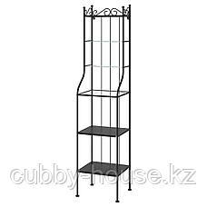 РЁНШЭР Стеллаж, черный, 42x176 см, фото 2