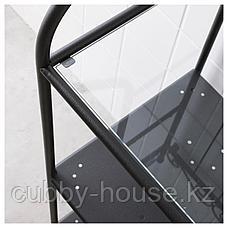 РЁНШЭР Стеллаж, черный, 42x176 см, фото 3
