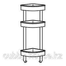 БРОГРУНД Настенн полочн модуль, угловой, нержавеющ сталь, 19x58 см, фото 2