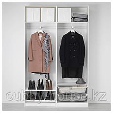 ПАКС Гардероб, белый, Аули зеркальное стекло, 150x44x236 см, фото 3