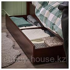 СОНГЕСАНД Каркас кровати с 2 ящиками, белый, 90x200 см, фото 3