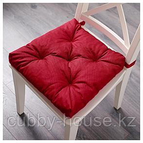 МАЛИНДА Подушка на стул, красный, 40/35x38x7 см, фото 2