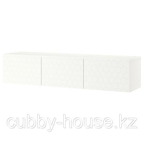 БЕСТО Тумба под ТВ, с дверцами, белый, Лаппвикен белый, 180x42x38 см, фото 2