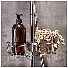 ВОКСНАН Полка для ванной, хромированный, 25x6 см, фото 2
