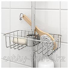 ВОКСНАН Полка для ванной, хромированный, 25x6 см, фото 3