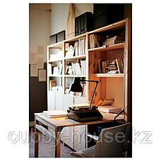 ИВАР Стеллаж со столом/шкафами/полками, сосна, 259x30-104x179 см, фото 2