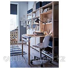 ИВАР Стеллаж со столом/шкафами/полками, сосна, 259x30-104x179 см, фото 3
