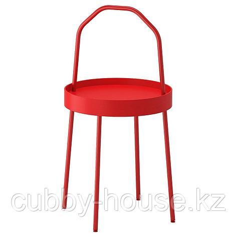 БУРВИК Придиванный столик, белый, 38 см, фото 2