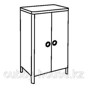 БУСУНГЕ Шкаф платяной, светло-розовый, 80x139 см, фото 2