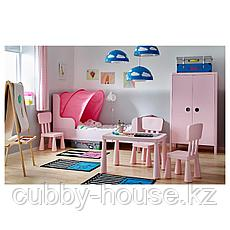БУСУНГЕ Шкаф платяной, светло-розовый, 80x139 см, фото 3