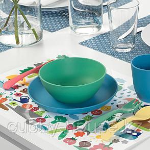 МЭТВРО Салфетка под приборы, орнамент «фрукты/овощи», разноцветный, 40x30 см, фото 2