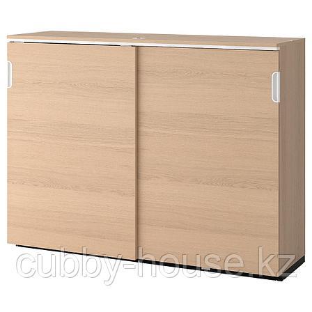 ГАЛАНТ Шкаф с раздвижными дверцами, белый, 160x120 см, фото 2