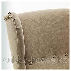 СТРАНДМОН Кресло с подголовником, Шифтебу бежевый, фото 3