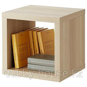 КАЛЛАКС Стеллаж, под беленый дуб, 42x42 см, фото 2