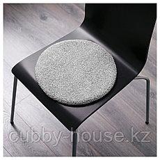 БЕРТИЛЬ Подушка на стул, серый, 33 см, фото 3