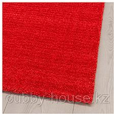 ЛАНГСТЕД Ковер, короткий ворс, красный, 133x195 см, фото 3