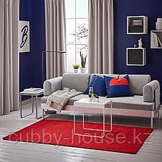 ЛАНГСТЕД Ковер, короткий ворс, красный, 133x195 см, фото 2