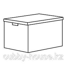 ТЬЕНА Коробка с крышкой, черный, 35x50x30 см, фото 3