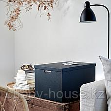 ТЬЕНА Коробка с крышкой, черный, 35x50x30 см, фото 2