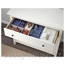 ХЕМНЭС Комод с 3 ящиками, белая морилка, 108x96 см, фото 3