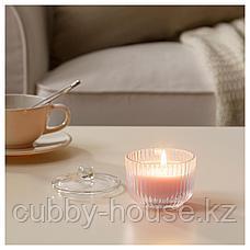БЛОМДОРФ Ароматическая свеча в стакане, душистый горошек, светло-оранжевый, 9 см, фото 2
